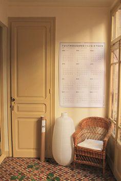 wall calendar a0, octà gon design