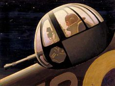 http://www.bbc.co.uk/arts/yourpaintings/paintings/night-an-air-gunner-in-action-turret-7263 #wwii #gunner #flight