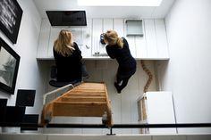 Home Designing — Tiny workspace inspiration | via #interior #apple #mac #home #space #work