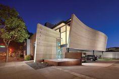 Silver Travertine Walls Sheltering Obagi Skin Health Institute in California
