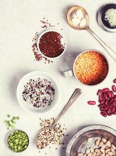 FOOD: Legumes on Behance #red #rice #spoon #legumes #orange #bowl #food #beans #brown