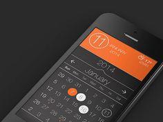 Calendar App UI PSD