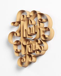 david mcleod #lettering #swash #display #wood #type