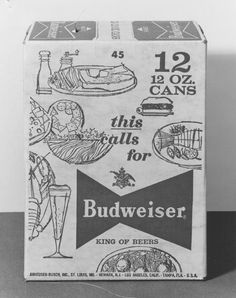 Budweiser's 'Bowtie Shape' CanThe Dieline #packaging #beer #retro