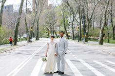 New-York-City-Elopement-12 #apple #bun #blossom #city #big #the #bride #car #taxi #nyc #wedding