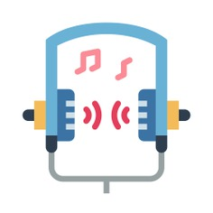 See more icon inspiration related to headphones, electronics, audio, earphones, sound, technology and music on Flaticon.