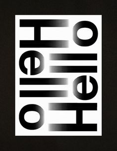 Hello Hello – A3 Studio compliment card on Behance #print