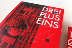DREI PLUS EINS / Flyer on Behance #red #electronic