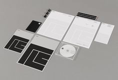 Rossi Long Consulting by Matthew Hancock #print #graphic design #stationary black and white