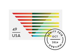 Vanity Fair Mailbag Stamp - Matt Chase | Design, Illustration #stamp #illustration