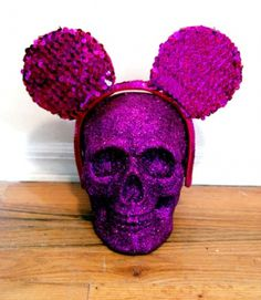 DON'T LOOK #skull #glitter #purple
