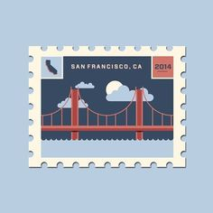 Brock Weaver | San Francisco #stamp #illustration #california #san francisco