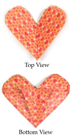 How to make an origami paper heart with a stand (http://www.origami-make.org/howto-origami-heart.php)