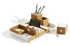 This set of desk accessories helps you get your work done in style.