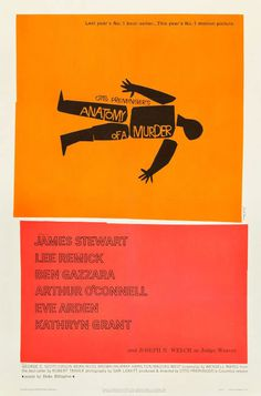 Anatomy of a Murder #bass #movie #a #preminger #saul #of #otto #anatomy #murder #poster #film