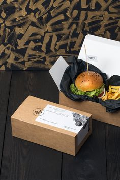 Bó burger and fries culinary food branding corporate design interior architecture by Hopa studio poland mindsparkle mag gold golden black g