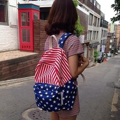 American Flag Backpack by American Apparel #tech #flow #gadget #gift #ideas #cool