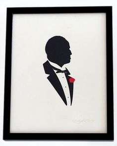 Cultural Compulsive Disorder: Olly Moss's Paper Cuts: Silhouettes Of Pop Culture Icons #don #godfather #olly #corleone #moss