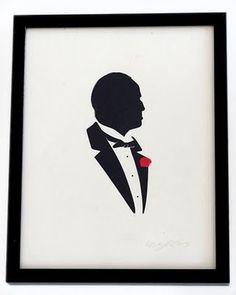 Compulsivo Trastorno Cultural: Paper Cuts de Olly Moss: Siluetas de iconos de Cultura Pop #don #godfather #olly #corleone #moss
