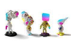I'm not digital - ceramic, spray paint, objects, installation, diploo studio #vaporwave #diploo #sculpture #installation #fresh #design #glitch #art #ceramic