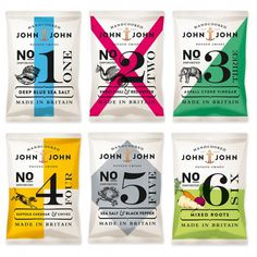 John & John Potato Crisps - TheDieline.com - Package Design Blog