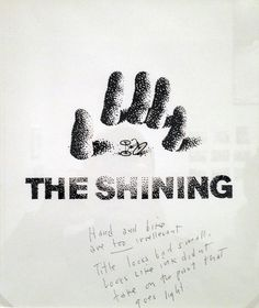 saul bass rejected design for stanley kubrick's 'the shining' #poster #stipple #saulbass #kubrick #poster - i like the hand