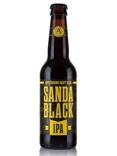 Fyne Ales Sandra Black IPA #packaging #beer #label #bottle