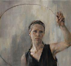 Shaun Ferguson - Circle #figure #circle #portrait #painting