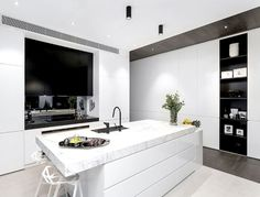 Architecton Designed Residences with Sophisticated Architectural Style in Melbourne - kitchen, #kitchendesign, kitchen ideas, interior desig