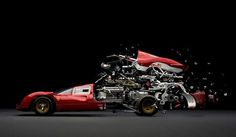 Exploded Cars by Fabian Oefner – Fubiz™ #explosion #car #art