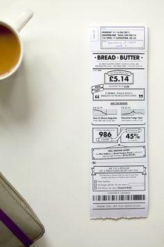 Rethink the receipt. #design #receipt #typography