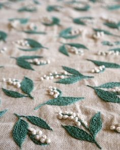 Yumiko Higuchi #pattern #of #the #embroidery #lilly #flower #valley