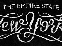 Dribbble - The Empire State by Simon Ã…lander #type #lettering