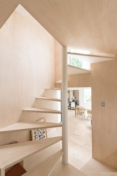 Skim Milk: Kumagai House in Japan by Hiroshi Kuno + Associates | Design Milk #stair #light #minimal