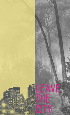 Leave the city print. #fonts #blackan #photogrpahy #art #type #typography