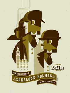 tom whalen #illustration #sherlock #tom #holmes #whalen