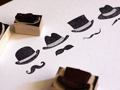logo stamp set for letterhead and use at the hat shop #stamp #logos