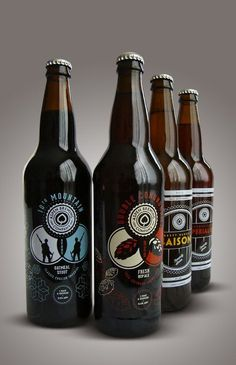 Aspen Brewing Company label designs by Jeremy Elder #packaging #design #label