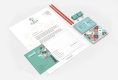 Stationary for Shezaf Kinderopvang by The Ad Agency