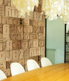 swissmiss | Letterpress Wallpaper #interior #decor #type #wallpaper #typography
