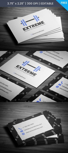 Free Gym Trainer Business Card Template