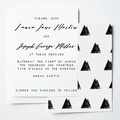 MOUNTAIN Wedding Invitation by The Little Print Shop on Etsy, $5.00minimalist modern wedding invitation #mountains