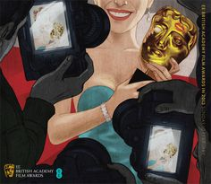 Creative Review Jonathan Burton's illustrated BAFTA programmes #illustration #bafta