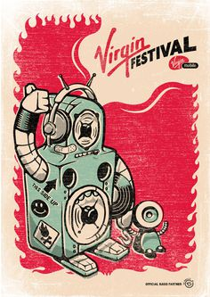 Virgin Festival on Behance #festival #print #screen #poster #virgin