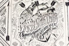 A bandana I designed for the Heartbreaker Banquet. Photo credit: Ann Street Studios #heart #arrows #lettering #drawing