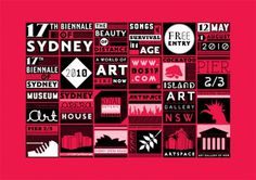 Creative Review - 17th Biennale of Sydney identity #dynamic #white #red #branding #sidney #black #system