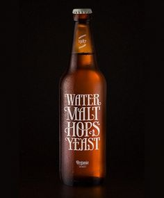 lovely-package-water-malt-hops-yeast1.jpg 538×650 pixels #packaging #bottle