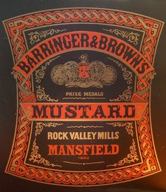 All sizes | Mustard 03 | Flickr - Photo Sharing! #label #mustard #screen #vintage #silk #typography