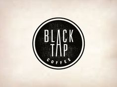 Dribbble - Black Tap Coffee by Jerron Ames #type #logo #circle