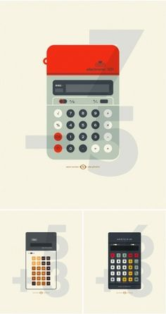 design work life » cataloging inspiration daily #calculator #illustration